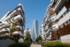Πύργος Hadid στη ζωή ` πόλεων ` σύνθετη στη θέση 3 Torri Μιλάνο Στοκ φωτογραφία με δικαίωμα ελεύθερης χρήσης