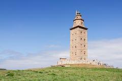 Πύργος Hercules, ο παλαιότερος λειτουργών φάρος στον κόσμο GA Στοκ Εικόνα