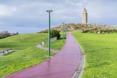 Πύργος Hercules σε ένα Coruna, Γαλικία, Ισπανία. Στοκ εικόνες με δικαίωμα ελεύθερης χρήσης