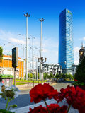 Πύργος Iberdrola στο Μπιλμπάο Στοκ εικόνες με δικαίωμα ελεύθερης χρήσης