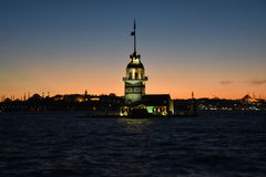 Πύργος Kız Kulesi κοριτσιών Στοκ Εικόνα