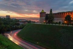 Πύργος Koromyslova και κάθοδος Zelensky σε Nizhny Novgorod Στοκ Εικόνα