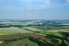 Πύργος Liblice, η υψηλότερη κατασκευή ραδιο συσκευών αποστολής σημάτων στην Τσεχία Στοκ Εικόνες
