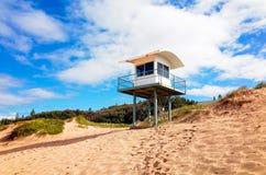 Πύργος Lifeguard στην παραλία φάρων σε Portmacquarie Αυστραλία Στοκ εικόνες με δικαίωμα ελεύθερης χρήσης