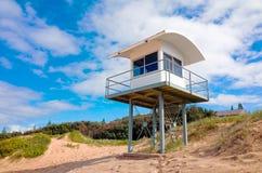 Πύργος Lifeguard στην παραλία φάρων σε Portmacquarie Αυστραλία Στοκ φωτογραφία με δικαίωμα ελεύθερης χρήσης