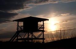 Πύργος Lifeguard στην παραλία Στοκ Φωτογραφία