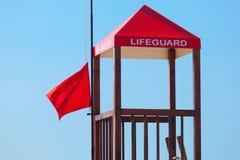 Πύργος Lifeguard στην παραλία Στοκ εικόνα με δικαίωμα ελεύθερης χρήσης