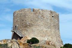 Πύργος Longosardo ή ισπανικός πύργος - Σαρδηνία, Ιταλία Στοκ εικόνα με δικαίωμα ελεύθερης χρήσης