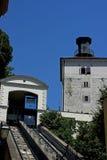 Πύργος Lotrscak και calblecar Στοκ εικόνα με δικαίωμα ελεύθερης χρήσης