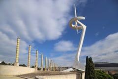 Πύργος Montjuic τηλεπικοινωνιών στοκ φωτογραφία με δικαίωμα ελεύθερης χρήσης