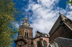 Πύργος Oudekerk στο Άμστερνταμ, Κάτω Χώρες Στοκ Φωτογραφία