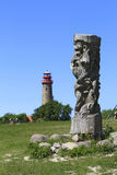 Πύργος Peilturm σε Kap Arkona, νησί Ruegen Στοκ Φωτογραφία