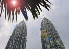 Πύργος Petronas, Κουάλα Λουμπούρ Στοκ εικόνα με δικαίωμα ελεύθερης χρήσης