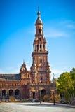 Πύργος Plaza de Espana, επαρχία της Σεβίλης, Σεβίλη, Ισπανία. Στοκ Φωτογραφία