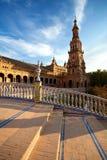 Πύργος Plaza de Espana, Σεβίλλη Στοκ Εικόνες