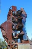 Πύργος Samitaur, ιδιότροπη αρχιτεκτονική που χτίζεται από Samitaur Constructs στο Λος Άντζελες Στοκ Εικόνα