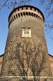 πύργος sforza κάστρων s Στοκ φωτογραφία με δικαίωμα ελεύθερης χρήσης