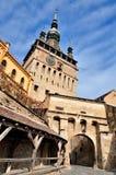 πύργος sighisoara ρολογιών στοκ εικόνα