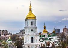 Πύργος Sofiyskaya τετραγωνικό Κίεβο κώνων καθεδρικών ναών Αγίου Sophia Στοκ Φωτογραφίες