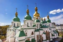 Πύργος Sofiyskaya τετραγωνικό Κίεβο Ουκρανία κώνων καθεδρικών ναών Αγίου Sophia Στοκ εικόνα με δικαίωμα ελεύθερης χρήσης
