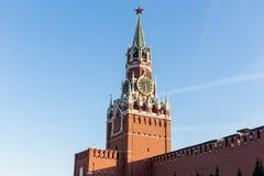 Πύργος Spasskaya της Μόσχας Κρεμλίνο στην κόκκινη πλατεία, σύμβολο του Μ στοκ φωτογραφία με δικαίωμα ελεύθερης χρήσης