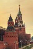 Πύργος Spasskaya της Μόσχας Κρεμλίνο, Ρωσία Στοκ εικόνες με δικαίωμα ελεύθερης χρήσης