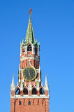 Πύργος Spasskaya της Μόσχας Κρεμλίνο στην ηλιόλουστη ημέρα, Ρωσία Στοκ Φωτογραφίες