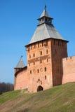 Πύργος Spasskaya του Novgorod detinets το ηλιόλουστο απόγευμα Απριλίου novgorod Ρωσία veliky Στοκ φωτογραφία με δικαίωμα ελεύθερης χρήσης
