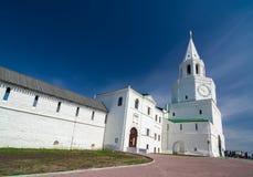 Πύργος Spasskaya Kazan Κρεμλίνο Περιοχή παγκόσμιων κληρονομιών της ΟΥΝΕΣΚΟ Στοκ Φωτογραφία
