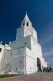 Πύργος Spasskaya Kazan Κρεμλίνο Περιοχή παγκόσμιων κληρονομιών της ΟΥΝΕΣΚΟ Στοκ εικόνες με δικαίωμα ελεύθερης χρήσης