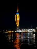 Πύργος Spinnaker τη νύχτα Στοκ Εικόνες