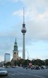 Πύργος TV σε Alexanderplatz στο Βερολίνο Στοκ Φωτογραφίες