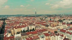 Πύργος TV στο zizkov Πράγα απόθεμα βίντεο