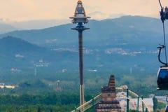 Πύργος UFO, πιό ψηλός free-fall γύρος στην αυτόχθονα λατρεία της Φορμόζας Στοκ Φωτογραφία