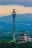 Πύργος UFO, πιό ψηλός free-fall γύρος στην αυτόχθονα λατρεία της Φορμόζας Στοκ Φωτογραφίες