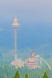 Πύργος UFO, πιό ψηλός free-fall γύρος στην αυτόχθονα λατρεία της Φορμόζας Στοκ Εικόνες