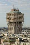 Πύργος Velasca από τη στέγη καθεδρικών ναών, Μιλάνο, Ιταλία Στοκ Εικόνες