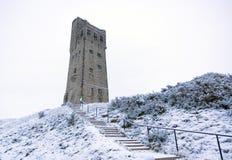Πύργος Victora στο Hill του Castle σε Huddersfield, Δυτικό Γιορκσάιρ, Αγγλία στοκ εικόνα