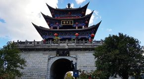 Πύργος Wuhua, παλαιά πόλη του Δαλιού, Yunnan, Κίνα στοκ φωτογραφία με δικαίωμα ελεύθερης χρήσης