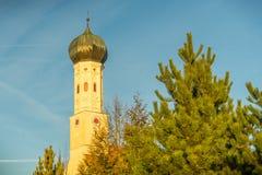 Πύργος Zwiebelturm κρεμμυδιών Στοκ εικόνα με δικαίωμα ελεύθερης χρήσης