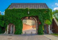 Πύλες κάστρων της Κρακοβίας Wawel Στοκ Φωτογραφίες