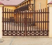 πύλες ξύλινες Στοκ εικόνες με δικαίωμα ελεύθερης χρήσης