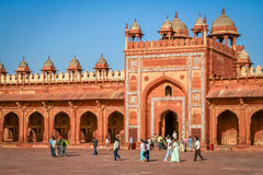 Πύλες Sikri Fatehpur Στοκ φωτογραφία με δικαίωμα ελεύθερης χρήσης