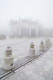 Πύλη βουνών στο Po Lin μοναστήρι Στοκ Εικόνα