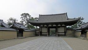 Πύλη εισόδων του ναού Horyu ji στην Ιαπωνία Στοκ Φωτογραφία