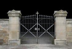 Πύλη επεξεργασμένος-σιδήρου στοκ εικόνες με δικαίωμα ελεύθερης χρήσης