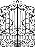Πύλη επεξεργασμένου σιδήρου, πόρτα, Στοκ Φωτογραφίες