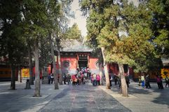 Πύλη ναών Shaolin στοκ φωτογραφίες με δικαίωμα ελεύθερης χρήσης
