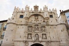 Πύλη πόλεων του Burgos Arco de Santa MarÃa Στοκ Εικόνες