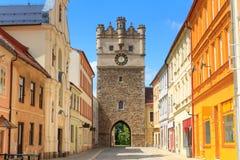 Πύλη πόλεων Jihlava (Iglau) παλαιά, Δημοκρατία της Τσεχίας Στοκ Φωτογραφία